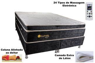 Colchão Magnético Kenko Premium, HR 29cm Látex + Massagem + Cromo