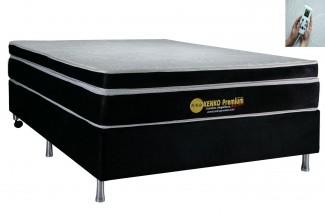 Colchão Magnético Kenko Premium, HR 29cm Látex + Massagem + Cromoterapia