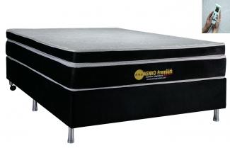 Colchão Magnético Kenko Premium, HR 29cm Látex + Massagem + Cromo - Casal 1,38x1,88