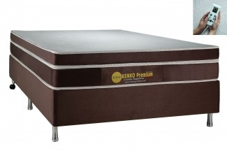 Colchão Magnético Kenko Premium Queen Size 1,58x1,98x27cm Plus C/ Massagem Eletrônica Energia Bioquãntica + Cromoterapia