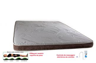 Manta Magnética Colchonete Kenko Premium Solteiro C/ Massagem Eletrônica 0,88x1,88x10cm
