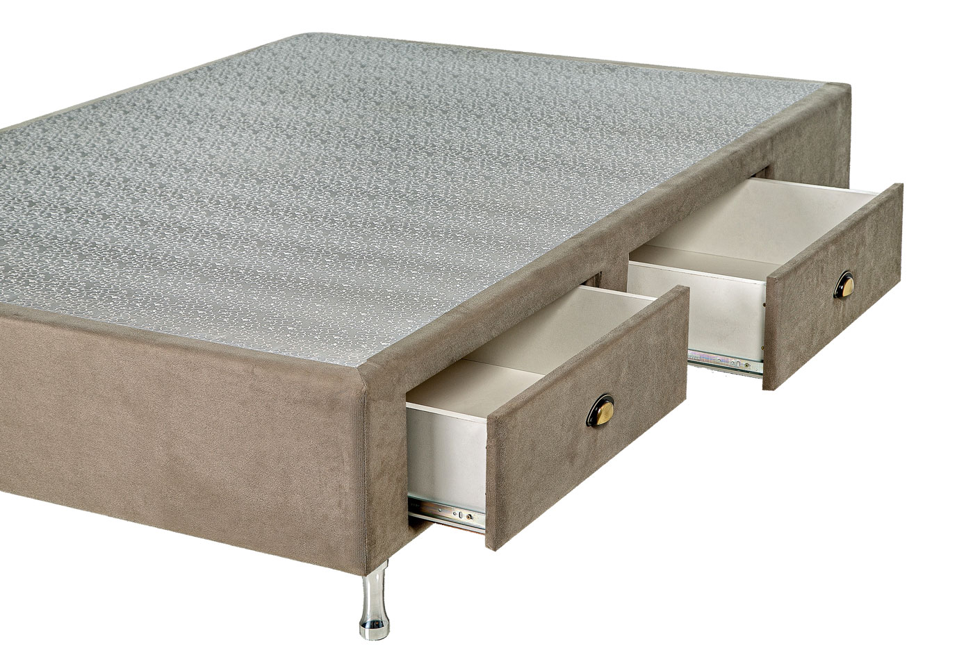 Box Base Para Colchão Casal Com Gavetas Suede 1,38 x 1,88 Kenko Premium  - Kenko Premium Colchões