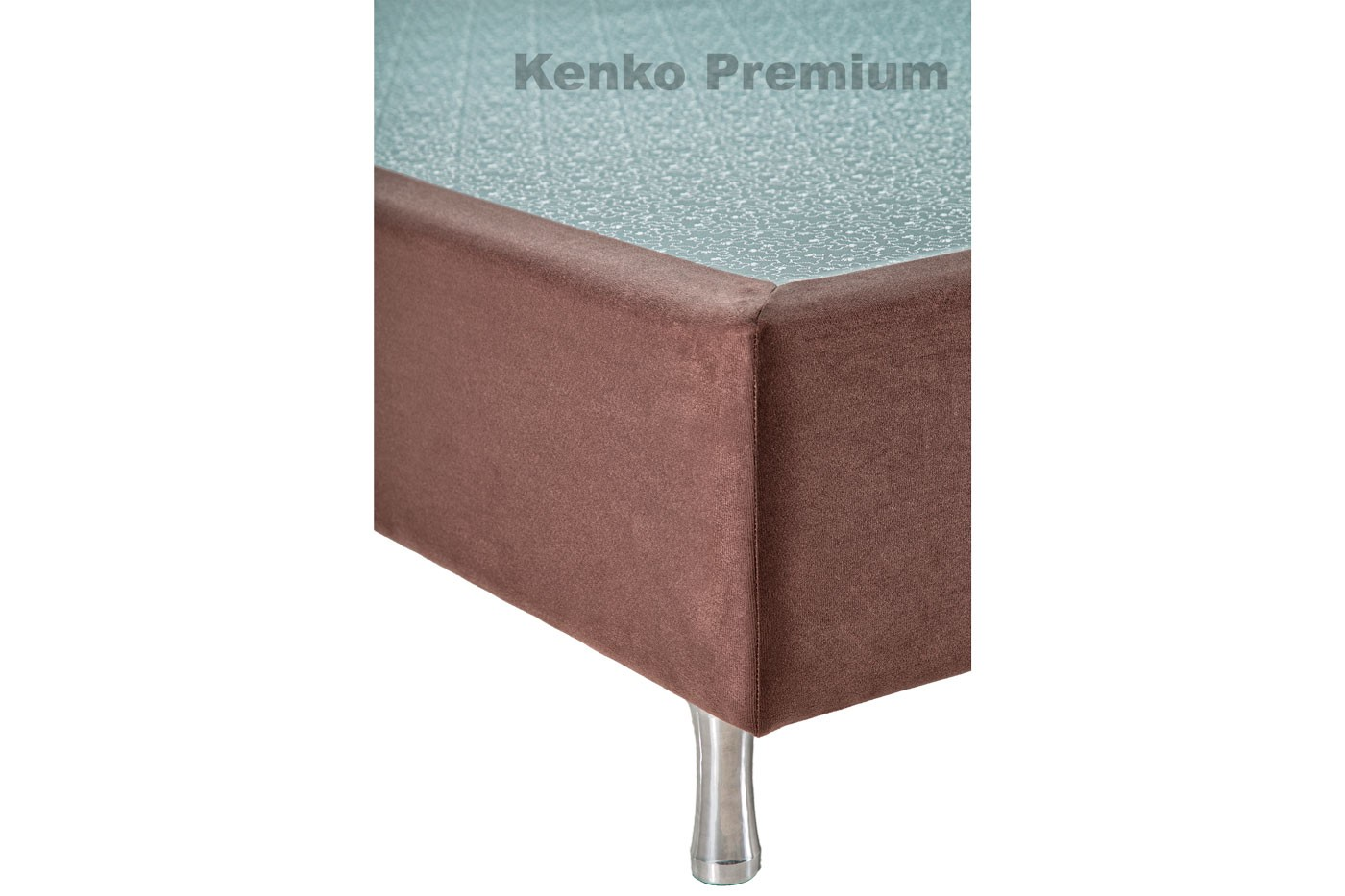 Box Base Para Colchão Casal Suede 1,38x1,88 Kenko Premium   - Kenko Premium Colchões
