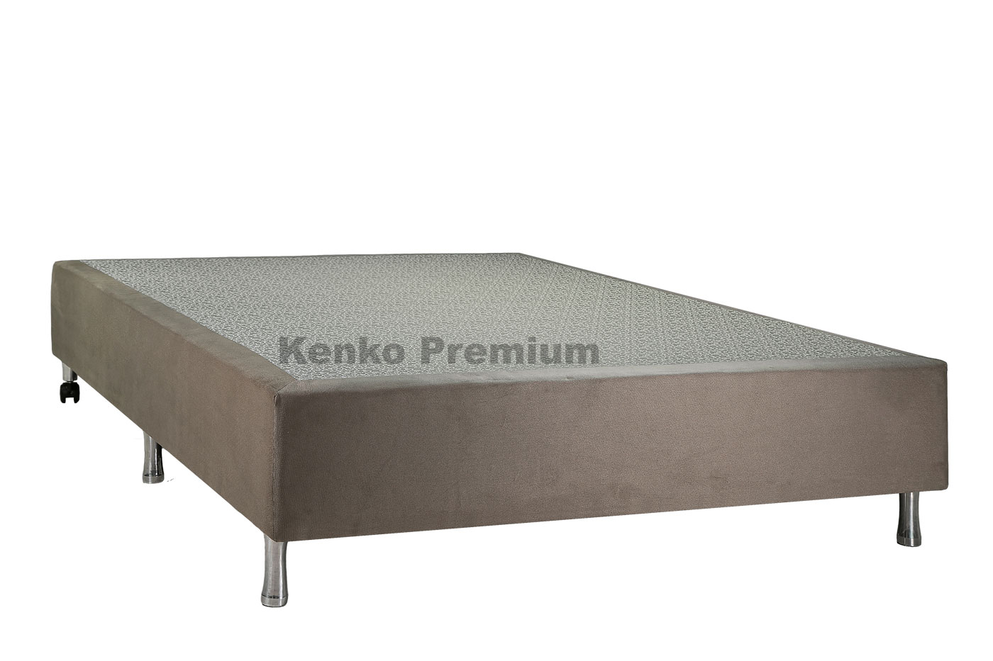 Box Base Para Colchão Iluminado Casal 1,38x1,88 Usb C/kit Conect Suede Kenko Premium   - Kenko Premium Colchões