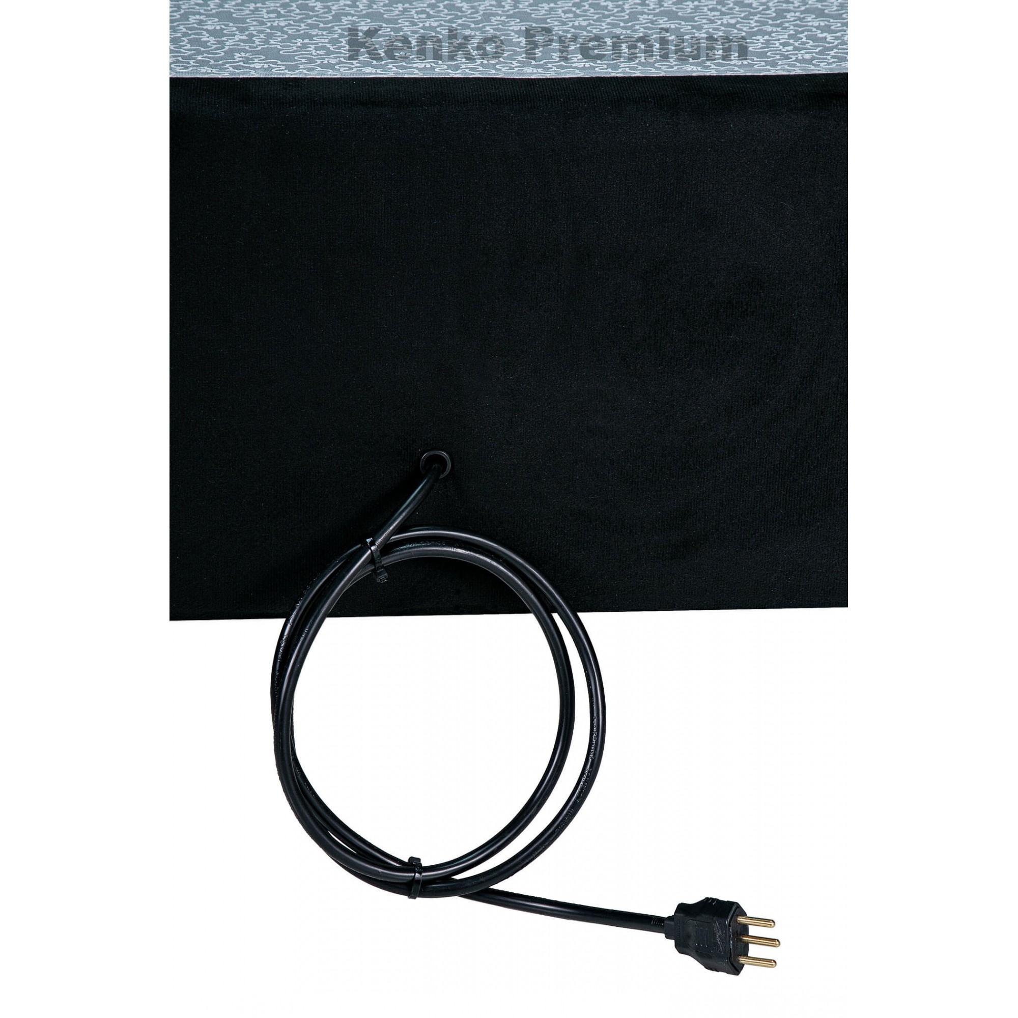Box Base Para Colchão Iluminado  Solteiro 0,88x1,88 Usb C/kit Conect Suede Kenko Premium   - Kenko Premium Colchões