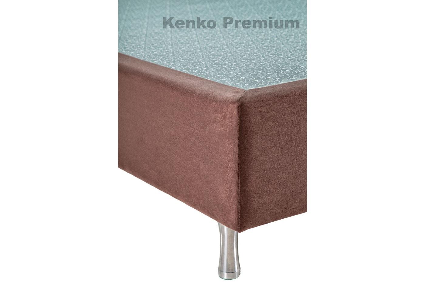 Box Base Para Colchão Solteiro Suede 0,88x1,88 Kenko Premium  - Kenko Premium Colchões
