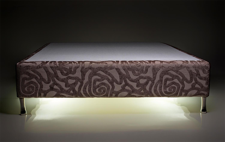 Box Iluminado King Size 1,93x2,03 Usb C/kit Conect Suede Kenko Premium   - Kenko Premium Colchões