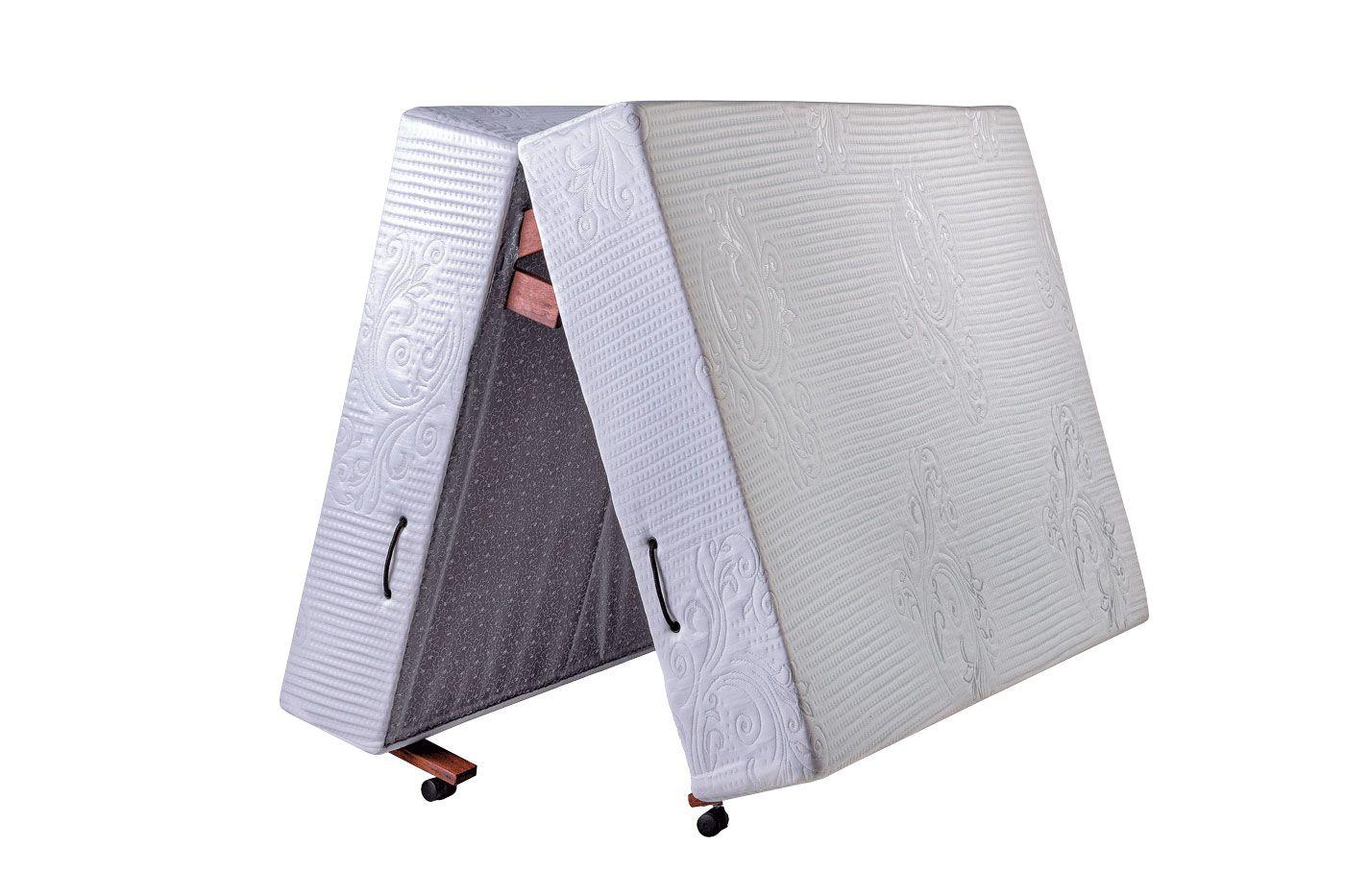 Cama Dobrável, Casal de Abrir com Colchão Embutido 130cm x 190cm Kenko Premium  - Kenko Premium Colchões