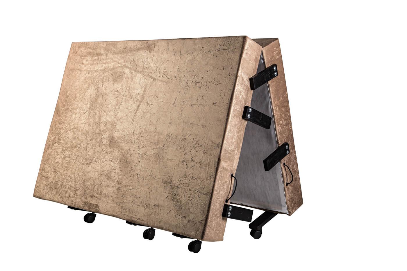 Cama Dobrável, Casal de Abrir com Colchão Embutido 1,28x1,90 em Suede  - Kenko Premium Colchões