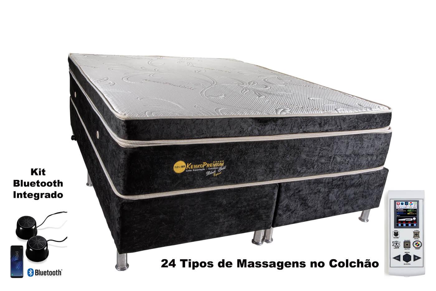 Colchão Magnético Kenko Premium Gold Exportação Massagem Eletrônica + Bioquãntica  - Kenko Premium Colchões