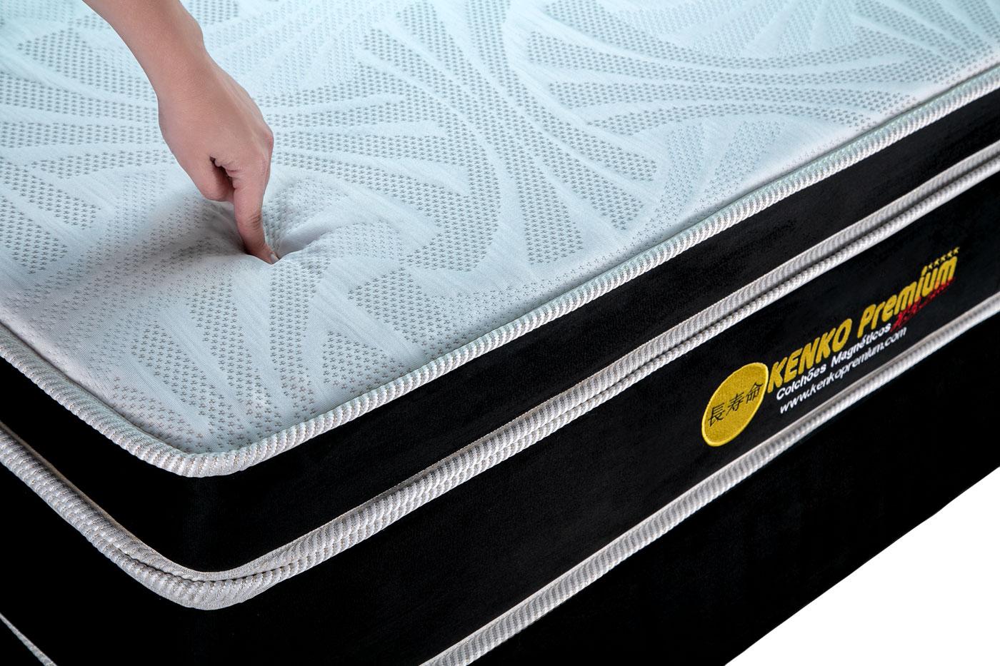 Colchão Magnético Kenko Premium, HR 29cm Látex + Massagem + Cromo - King Size 1,93X2,03  - Kenko Premium Colchões