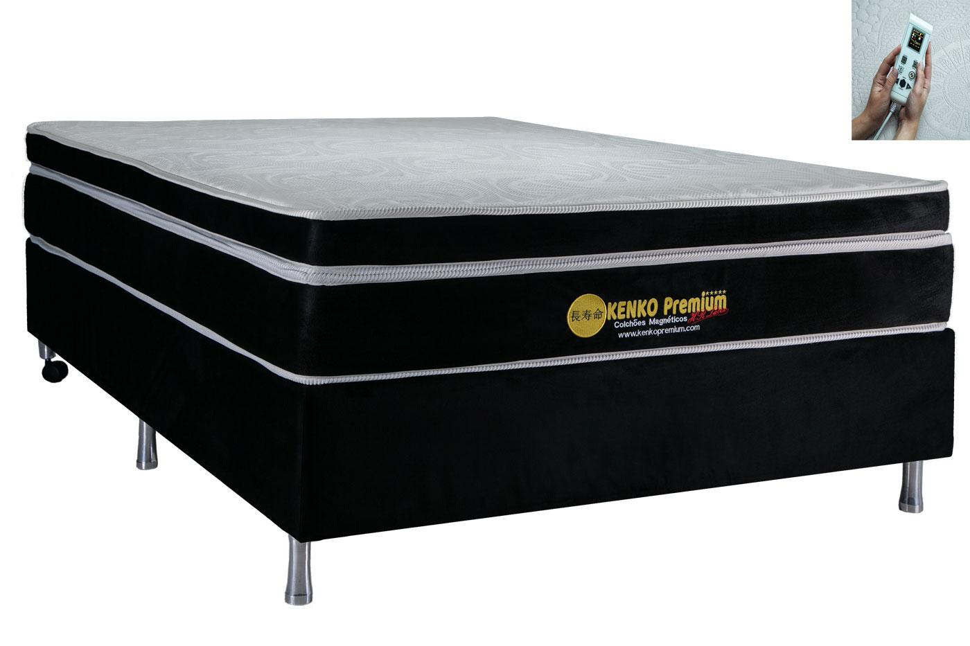 Colchão Magnético Kenko Premium, HR 29cm Látex + Massagem + Cromo - Queen Size 1,58X1,98  - Kenko Premium Colchões