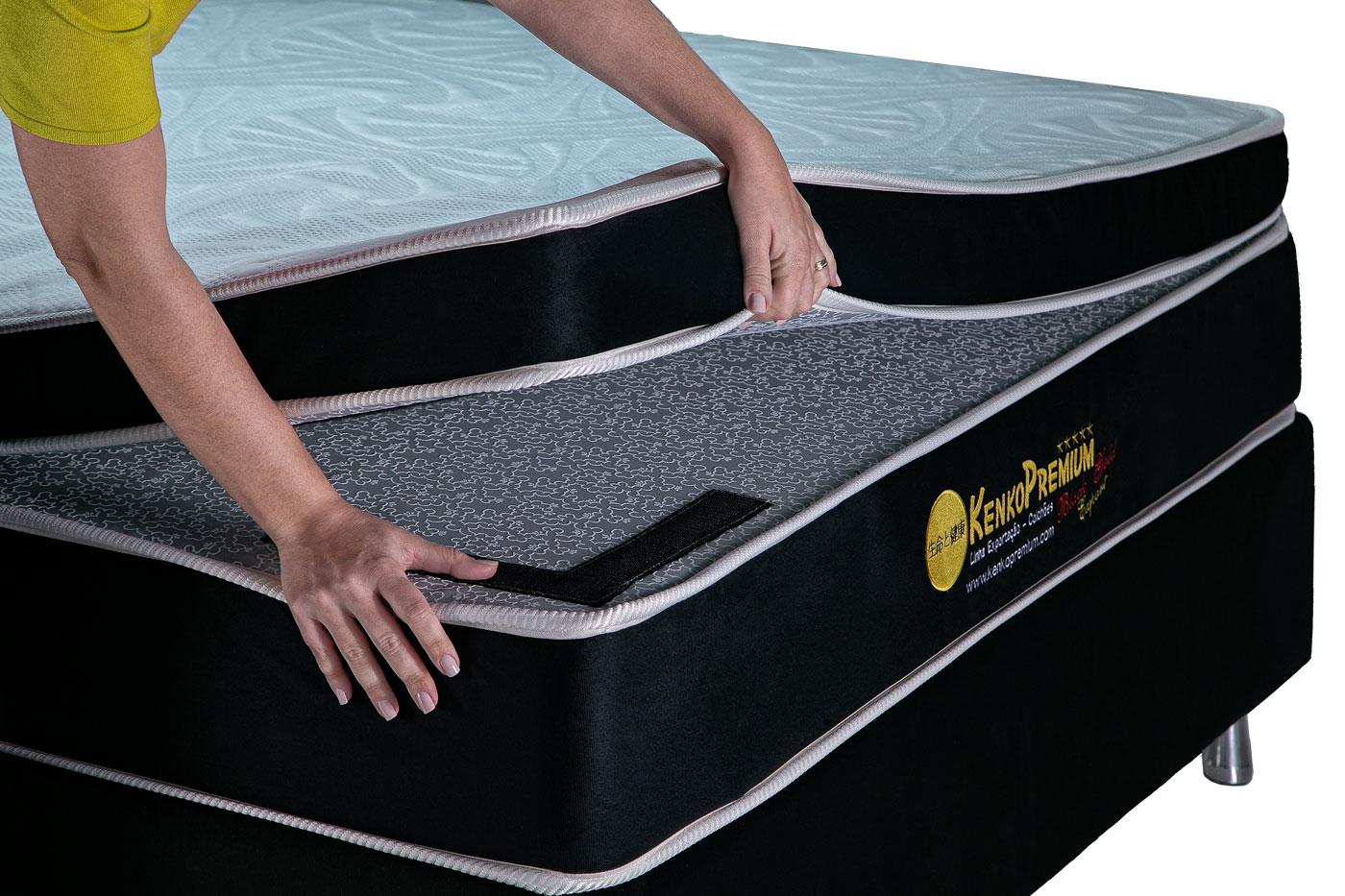 Colchão Magnético Kenko Premium, HR 29cm Látex + Massagem + Cromo - Solteiro 0,88x1,88  - Kenko Premium Colchões