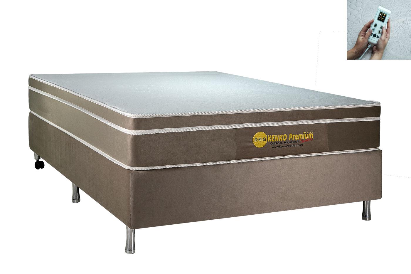 Colchão Magnético King Size Kenko Premium Standart C/ Massagem Eletrônica Energia Bioquãntica 1,93x2,03x25cm  - Kenko Premium Colchões