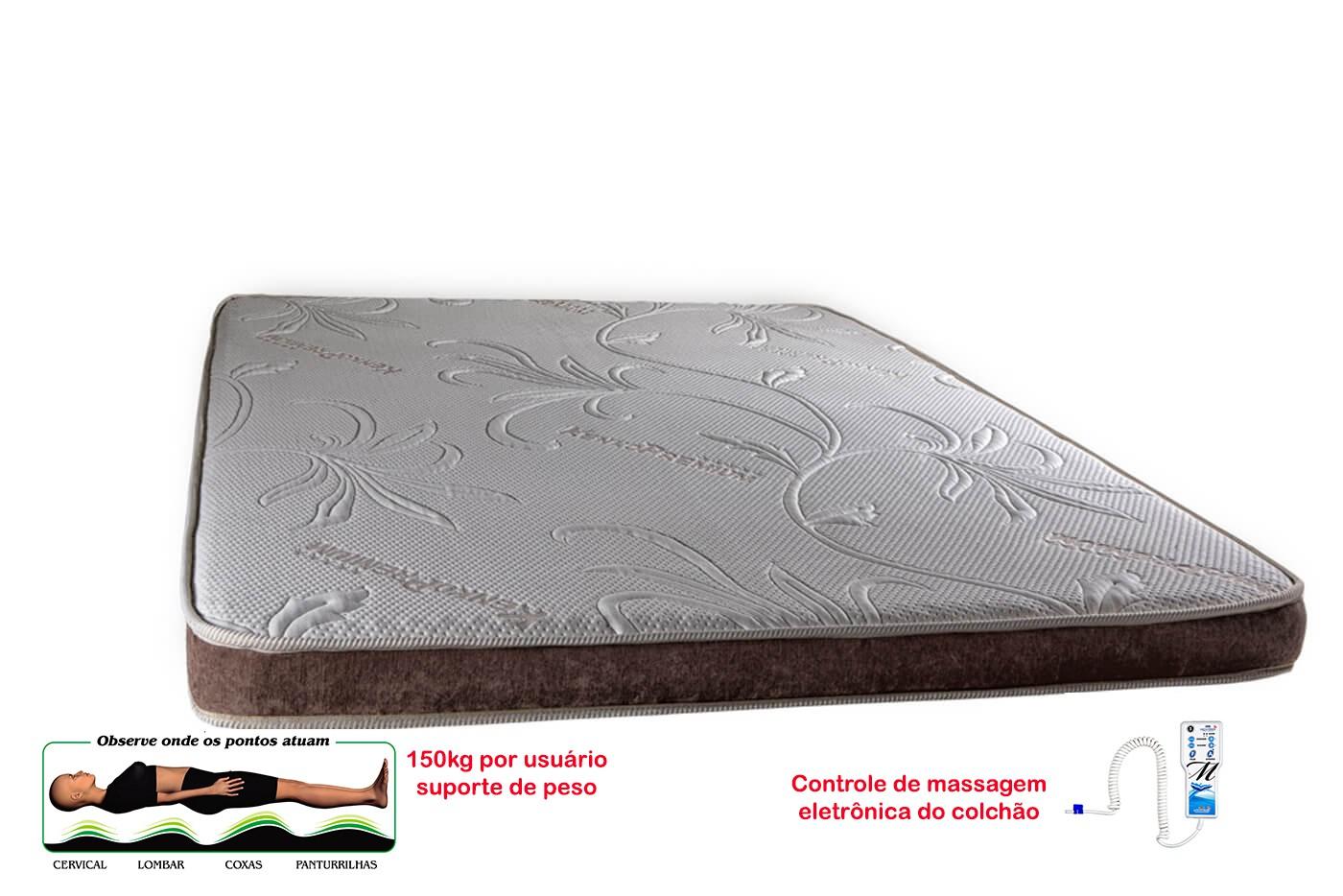 Manta Magnética Colchonete Kenko Premium Solteiro C/ Massagem Eletrônica 0,88x1,88x10cm  - Kenko Premium Colchões