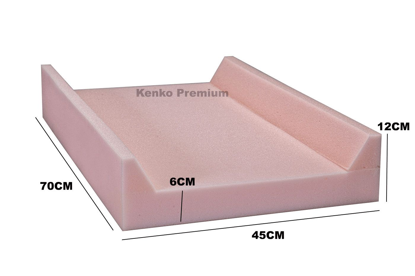 Peça De Espuma Base Trocador Americano 70cm x 45cm x 12cm D23 Kenko Premium  - Kenko Premium Colchões