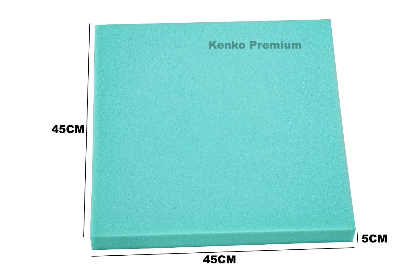 Peça de Espuma Estofado Cadeira 45cm x 45cm X 5cm D33  Kenko Premium  - Kenko Premium Colchões
