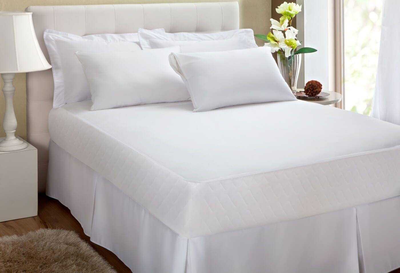 Protetor de Colchão Algodão Impermeável Queen Size 1,58X1,98 KACYUMARA  - Kenko Premium Colchões