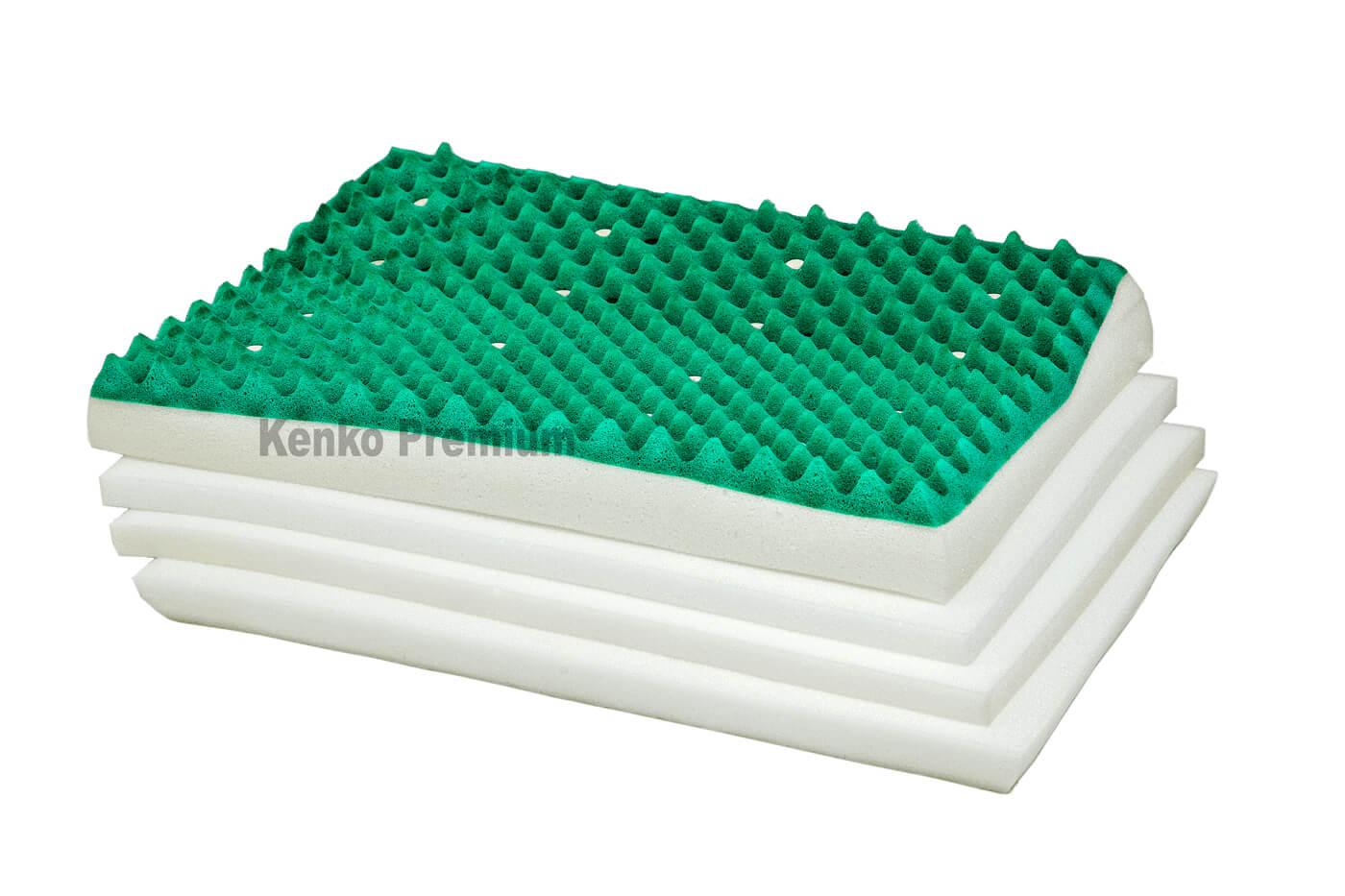 Travesseiro Magnético Kenko Premium Anatômico Camadas Ajustáveis Hr Látex  - Kenko Premium Colchões