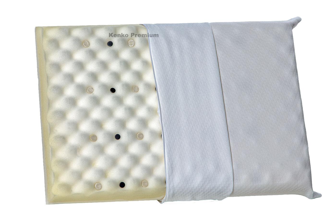 Travesseiro Magnético Kenko Premium BASIC One Face Camadas Ajustáveis Regulagem de Altura  - Kenko Premium Colchões