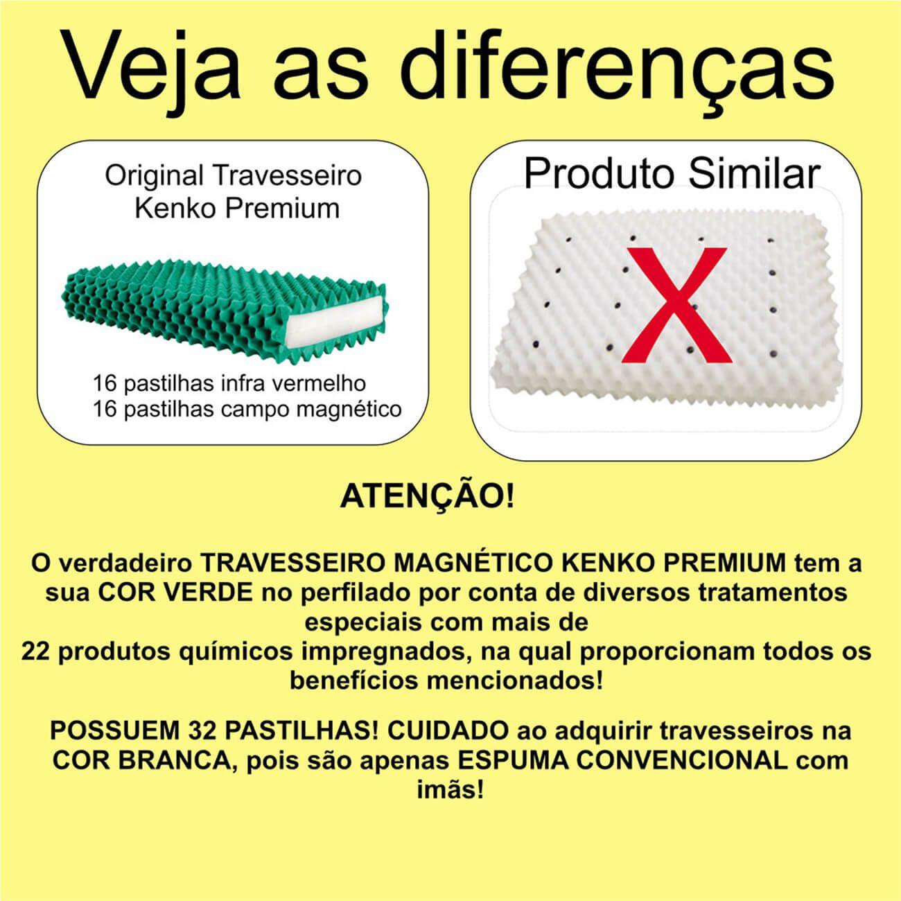 Travesseiro Magnético Kenko Premium Modelo Standart      - Kenko Premium Colchões