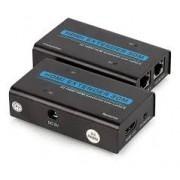 Extensor Hdmi 30 Metros com 2 Cabos Cat-5e E Cat-6 Full Hd 1080p Com fonte