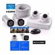 Kit 4 Cameras de Segurança Ahd com Infra Vermelho Multilaser