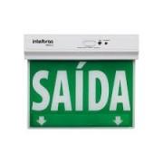 Placa de Sinalização de Saida de Emergencia Led de Unica Face Psa 125 Intelbras