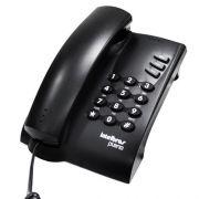 TELEFONE COM FIO PLENO PRETO COM CHAVE