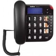 Telefone Intelbras Tok Facil Id para Idosos E Deficientes com Display