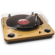 Toca Discos Vinil Ion Max LP com alto falantes, conversão digital, tampa e saída RCA