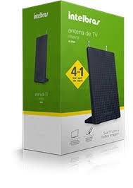 ANTENA DE TV INTERNA DIGITAL INTELBRAS AL 2021 4 EM 1 VHF, UHF, FM , HDTV  - Sandercomp Virtual