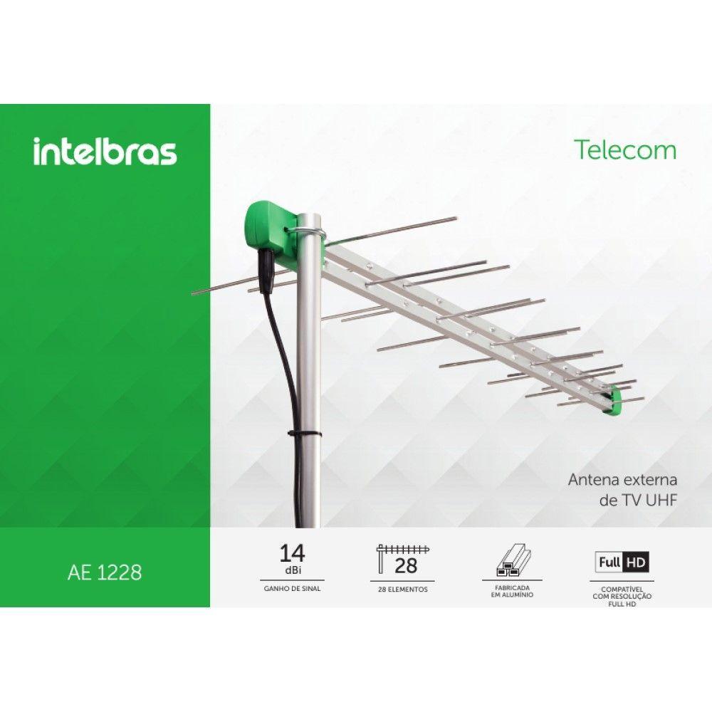 Antena Externa de TV UHF/HDTV AE 1228 INTELBRAS  - Sandercomp Virtual