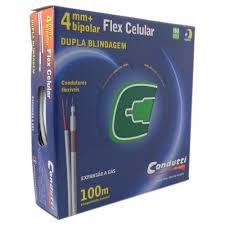CABO COAXIAL 4MM COM ALIMENTADOR BIPOLAR  CONDUTTI  - Sandercomp Virtual