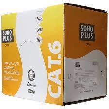 CABO DE REDE LAN CAT6 CMX FURUKAWA SOHOPLUS UTP 24AWGX4P AZUL 305M  - Sandercomp Virtual