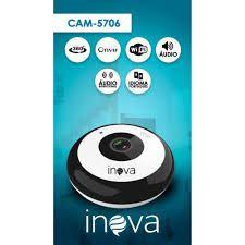 Câmera de Segurança Ip Wi-fi Full Hd 2mp Fisheye 360º Onvif com audio e microfone  Cam-5706 Inova  - Sandercomp Virtual