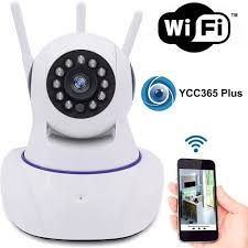 Câmera de Segurança Ip Wifi Wireless Sem Fio Hd 3 Antenas Visao Noturna Audio e microfone  Cam 5702 Inova  - Sandercomp Virtual