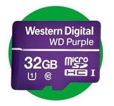 Cartão de Memória MicroSD 32GB WD Purple - Para sistemas de segurança, Classe 10, UHS Speed 1 (U1), funcionamento 24/7  - Sandercomp Virtual