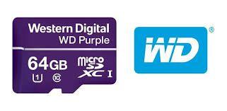 Cartão de Memória MicroSD 64GB WD Purple - Para sistemas de segurança, Classe 10, UHS Speed 1 (U1), funcionamento 24/7  - Sandercomp Virtual