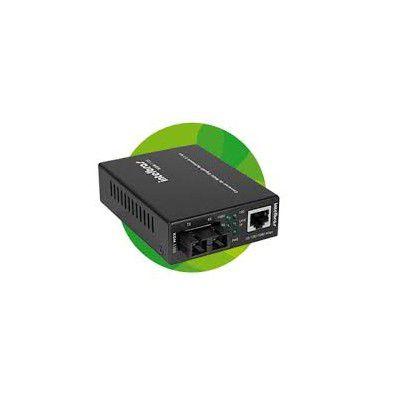Conversor de mídia Fast Ethernet monomodo até 20 km de 100 Mbps. KFs 1120 Intelbras  - Sandercomp Virtual