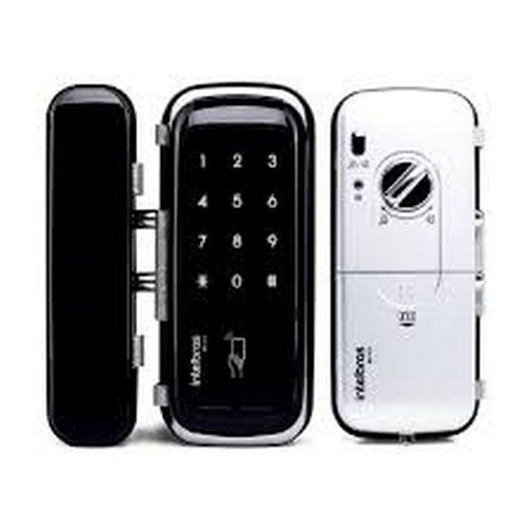Fechadura digital de sobrepor para portas de vidro Fr400 Intelbras