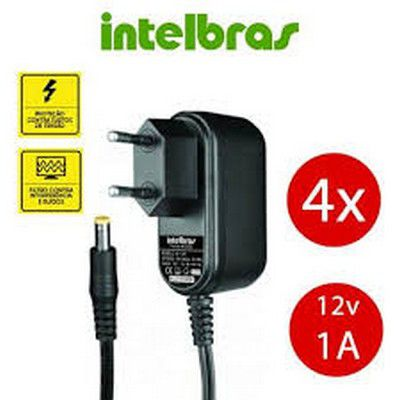 FONTE DE ALIMENTAÇÃO INTELBRAS 12,8V 1A XF 1201  - Sandercomp Virtual