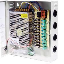 FONTE ESTABILIZADA 10V 5A COM RACK ORGANIZADORA PARA CÂMERA CFTV  - Sandercomp Virtual