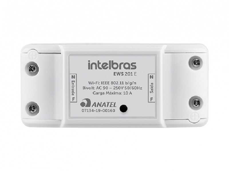 Interruptor Controlador de Cargas WiFi EWS 201 E Intelbras  - Sandercomp Virtual
