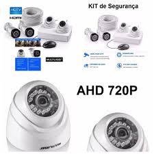 Kit 4 Cameras de Segurança Ahd com Infra Vermelho Multilaser  - Sandercomp Virtual