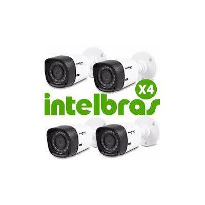 KIT 4 CÂMERAS INTELBRAS HDCVI DOME VHD 1010B  - Sandercomp Virtual