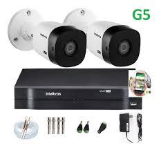Kit Intelbras com 2 Câmeras HD 720p VHL 1120 B com Infra Vermelho 20 Metros  + DVR de 4 Canais Multi Hd 1104 Intelbras + Acessórios  - Sandercomp Virtual