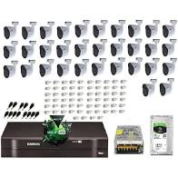 Kit Intelbras com 32 Câmeras HD 720p VHL 1120 B com Infra Vermelho 20 Metros + DVR de 32 Canais Multi Hd 1132 Intelbras + Acessórios  - Sandercomp Virtual
