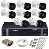 Kit Intelbras com 8 Câmeras HD 720p VHL 1120 B com Infra Vermelho 20 Metros + DVR de 8 Canais Multi Hd 1108 Intelbras + Acessórios  - Sandercomp Virtual
