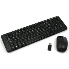 KIT TECLADO E MOUSE SEM FIO WIRELESS MK220 PRETO LOGITECH  - Sandercomp Virtual